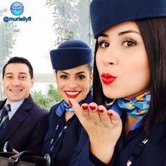 @muriellyfl  ______________ #blueangelsbr  #brasil  #cabincrew  #airport  #airplane  #azullinhasaereas #beautiful  @azulinhasaereas