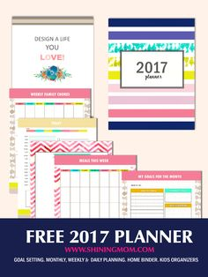 FREE 2017 planner that has over 50 lovely pages for your every day organization! Print it now!