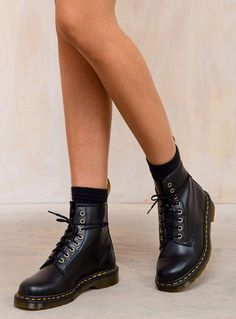 Martens Vegan 1460 Boots (they go with everything) Dr Martens Outfit, Doc Martens Style, Doc Martens Boots, Dr Martens 1460, Vegan Doc Martens, Cute Shoes, Me Too Shoes, Short Boots, Mode Inspiration