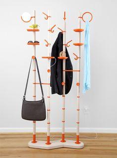 Perchero diseño árbol accesorios