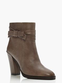 Kind of a taupe-y brown short boot. Kate Spade MANNIE boots