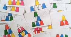 Szukasz szybkiej zabawy edukacyjnej? Chcesz wprowadzić dzieci w kodowanie? Użyj kubków jednorazowych lub kubków z IKEI, by budować piramidy, wieże dzięki którym Twoje dziecko nauczy się orientacji przestrzennej, kodowania i liczenia. A do tego mam dla Ciebie gotowe karty pracy z rysunkami różnych wież z kubków. Układanka lewopółkulowa dla dzieci, karty pracy dla dzieci, kodowanie dla dzieci Busy Boxes, Coding, Math, School, Kids, Educational Toys, Games, Young Children, Boys
