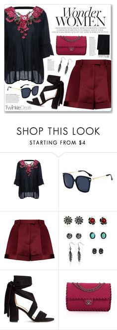"""""""Summer nights (twinkledeals 25)"""" by myduza-and-koteczka ❤ liked on Polyvore featuring Valentino, Anja and Uniqlo"""