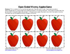 """Wormy Apples"": Place cards face-down on table.  Have students complete a speech/language task (e.g., saying a target word, answering a question, formulating a sentence, etc.).  Once students complete a task, they can pick a card.  If they get an apple, they can keep it.  If they get a wormy apple, they need to return all of their cards to the center.  The student with the most apples at the end of the game is the winner!  Simple, yet more motivating than straight-up data collection"