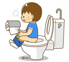 トイレに行く男の子のイラスト2(ソフト)