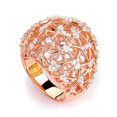 Big Sparkle Dome CZ Ring (14K Rose Gold) – CZ Sparkle Jewelry®