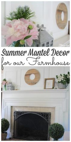 Summer mantel décor