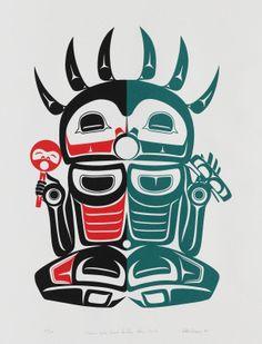 "Shaman Who Went to the Other World - Serigraph 22""x16"" - Stan Greene (Eyi:ye), Semiahmoo/Chehlis/Nez Perce"