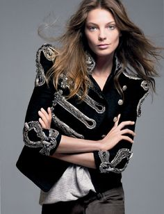 Daria Werbowy by David Sims for Vogue, December 2011