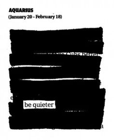 Newspaper Blackout Horoscopes for September 2012 by Austin Kleon