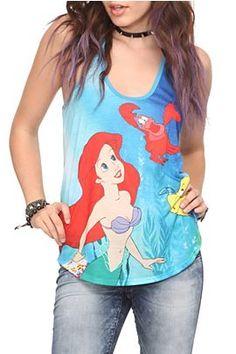 The Little Mermaid Ariel Sea Girls Tank Top - 10007179