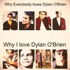 So true the real reason I like Dylan O'Brien -Teen wolf