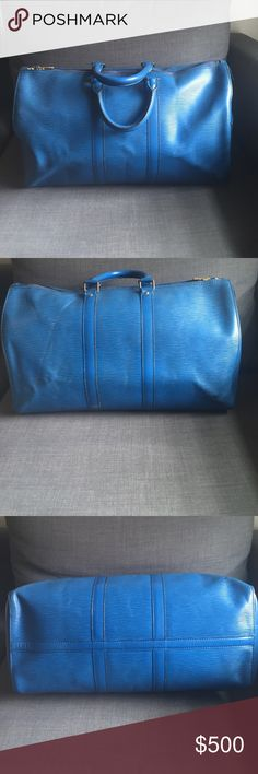 Epi Louis Vuitton Keepall Keepall 45 in epi leather. Authentic in used condition. Additional pics in listing next to this one in my closet. Date code V.I. 1901 Bags Travel Bags