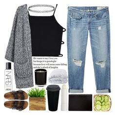 """""""he wants to say i love you"""" by she-who-cannot-be-named ❤ liked on Polyvore featuring rag & bone/JEAN, Birkenstock, NARS Cosmetics, Soft-Tex, Korres, Topshop, bye, Pubescentdramaqueen, hoberto and ceborto"""