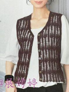 – Knitting patterns, knitting designs, knitting for beginners. Crochet Vest Pattern, Crochet Jacket, Crochet Top, Knitting Designs, Knitting Patterns, Knitting For Beginners, Saree Blouse Designs, Crochet Clothes, Long Sleeve Sweater