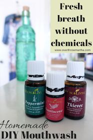 Easy DIY Thieves Mouthwash--water, sea salt, baking soda, thieves and peppermint essential oils Thieves Essential Oil, Frankincense Essential Oil, Essential Oil Uses, Young Living Oils, Young Living Essential Oils, Slow Cosmetic, Homemade Mouthwash, Yl Oils, Tricks