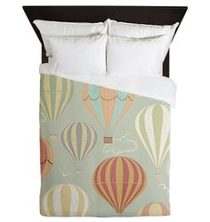 Hot Air Balloon Fabric Paris France Toile From Brick House