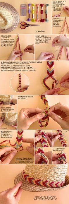 Customisez votre chapeau en paille avec un tissage brésilien
