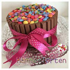 Smarties Kitkat Cake