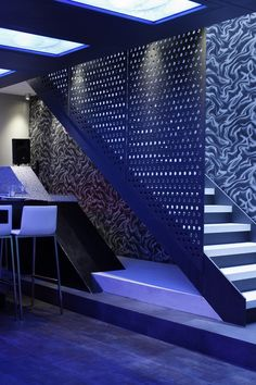 Great concept for the stairs on the bar side of the stairs. Restaurant and Bar Design Awards - Entry Restaurant Design, Restaurant Bar, Night Club, Night Life, Restaurant Entrance, Nightclub Design, Bar Design Awards, Interior Architecture, Interior Design