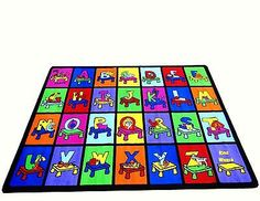 For kids play room - 8'X10' Educational Area Rug For Schools & DAY CARE MY ABC PLACE