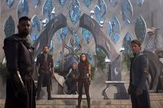 The Shannara Chronicles - Amberle Elessedil and  Ander Elessedil with Eventine Elessedil, Allanon and Arion Elessedil