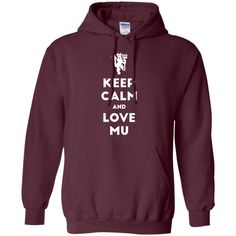 Keep Calm and Love Red Devil G185 Gildan Pullover Hoodie 8 oz.