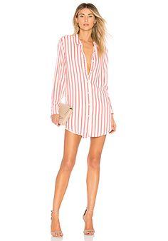 L'Academie Nicole Dress in Red Stripe   REVOLVE