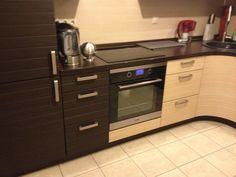 Кухонный гарнитур, угловая кухня, встроенный холодильник