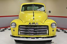 1949 GMC 3100 Pickup For Sale | AllCollectorCars.com Gmc For Sale, Classic Gmc, Pickups For Sale, Classic Pickup Trucks, Leaf Spring, Yellow Painting, Good Ol, Manual Transmission, Get Directions