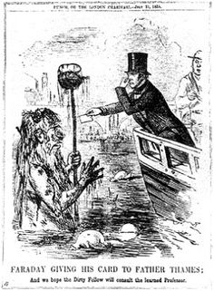 """Michael Faraday voiced his concern to British Parliament about the pollution in the Thames river in 1855. His warning was ignored, and London paid the price in 1858 when a sweltering summer bathed the city in what came to be known as the """"Great Stink."""""""