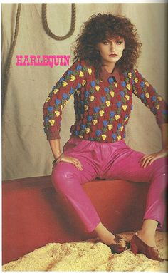 High-waisted tuck-fronted hot pink leather pants! Like the shoes though ;)