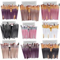 Makeup Brushes 20 Pcs 16 Color Professional Soft Cosmetics Beauty Make up Brushes Set Kabuki Kit Tools maquiagem Makeup Brushes Professional Makeup Brush Set