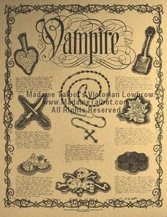 How to kill a vampire... something like this framed with a vampire slayers kit would be a nice touch.