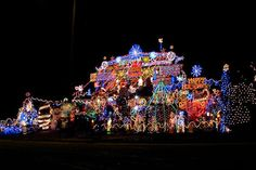 With lights so plentiful you can't even see the house under it, this home in Ontario donates money from visitors to SickKids, a children's hospital in Toronto.