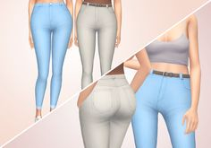 "tamsin jeans ""i may as well have called these 'high waisted skinny jeans 2.0′ because that's what they are - i grew tired of the textures of my old jeans to the point i didn't use them in game anymore, so i started from scratch again! these jeans..."