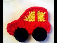 Applique Crochet - YouTube Decoration, Appliques, Arts And Crafts, Make It Yourself, Long Scarf, Key Pouch, Bags, Automobile, Tricot