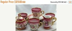 Kunst-Palettte Bavaria Regnitzlosau Tea Set  Gift by Pastfinds