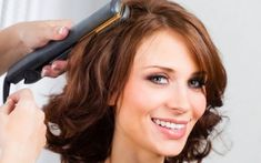 Short hairdos for thick hair are flattering when it is straightened. Blowing out makes sure that any height and volume gets balanced. Layers are shorter in back and sides for a whimsical cut.