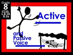 Active and Passive Voice made for the 8th grade Language Arts classroom. This product includes a PowerPoint, lesson plan, student worksheet and more! The lesson focuses on Content Standards:CCSS.ELA-Literacy.L.8.1b Form and use verbs in the active and passive voice.CCSS.ELA-Literacy.L.8.3a Use verbs in the active and passive voice and in the conditional and subjunctive mood to achieve particular effects (e.g., emphasizing the actor or the action; expressing uncertainty or describing a ...
