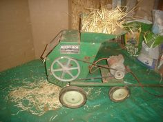 Converting a wood chipper into a bean thresher