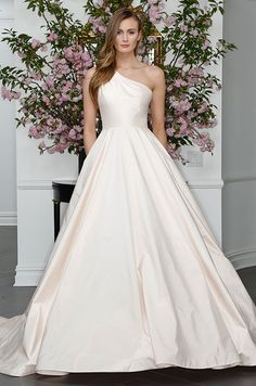 Timeless elegant blush ball gown wedding dress. Legends Romona Keveza, Spring 2016