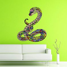 Cobra Wall Decals Full Color Snake Decal by CreativeDecalsforYou