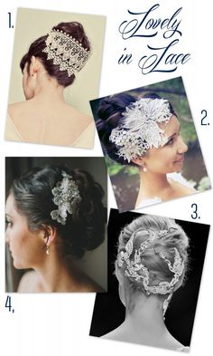 lovely bridal up dos are even more beautiful with lace!