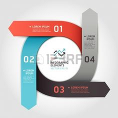 Modern arrow circle step up options banner  Vector illustration  can be used for workflow layout, diagram, number options, web design, infographics  photo
