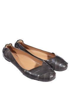 #Chloé | #Ballerinas aus grau geflochtenem Leder, Gr. 37,5 | Chloé Schuhe | mymint-shop.com | Ihr Online #Shop für Secondhand / Vintage #Designerkleidung & #Accessoires bis zu -90% vom Neupreis das ganze Jahr #mymint