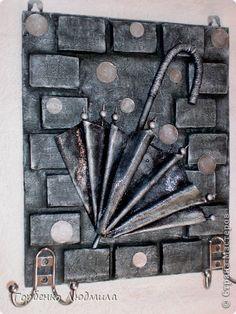 """Привет Всем! Сегодня хочу представить на Ваш суд свои новые работы,вернее показать как знаменитые в СМ ключницы получились у меня))) Ключница """"Закрытый зонт"""" в серебре фото 2"""