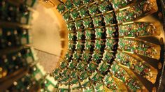 Quantum computation researchers disagree whether a device from D-Wave Systems is truly harnessing the counterintuitive weirdness of quantum physics. (Courtesy of D-Wave Systems Inc.)