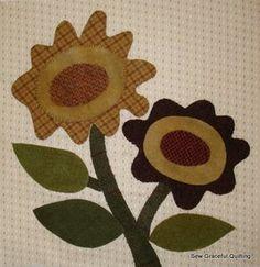 wool flowers . . .