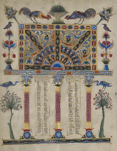 Canon Table Page (detail), from the Zeyt'un Gospels, 1256, Hromklay, Armenia, T'oros Roslin. The J. Paul Getty Museum. Gift of the Catholicosate of the Great House of Cilicia